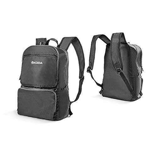Skoda 000087327J Faltbarer Rucksack mit Trägern Backpack Tasche Lifestyle, grau