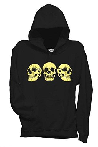 Sweatshirt Trois Crânes - Fameux By Mush Dress Your Style - Enfant-S-Noir