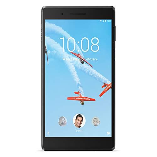 Lenovo Tab 7 Tablet, Display 7  HD, Processore MediaTek, 16 GB Espandibili fino a 128 GB, RAM 2 GB, WiFi+LTE, Android Nougat, Nero
