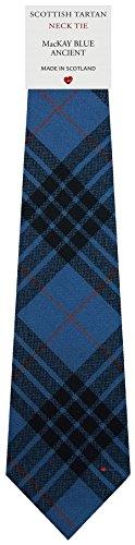 I Luv Ltd Cravate en Laine pour Homme Tissée et Fabriquée en Ecosse à MacKay Blue Ancient Tartan