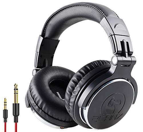 2CANZ Over-Ear Professional Wired DJ Headphones - 50mm Neodymium Drivers, Closed Back,...