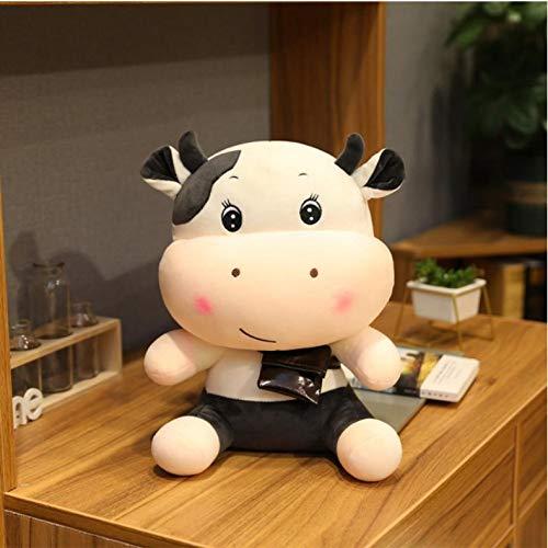 Hanyyj Plüschtiere Großes Süßes Vieh Mit Rucksack Cartoon Weiches Vieh Plüschtier Kuscheltier Kuhspielzeug Für Kinder Kinder Schönes Geschenk 30 cm