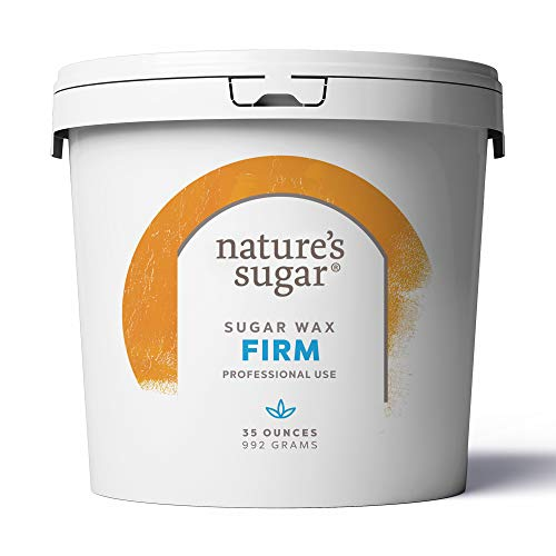 Nature's Sugar Wax Firm Sugaring Paste for Bikini, Brazilian, Underarms and Brows. All-Natural Hair Removal for Women and Men. All skin types. Vegan. Cruelty-Free. 35 oz (Firm)