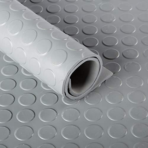 Flachnoppen Gummiläufer 3mm (120cm breit) grau | Noppenmatten | Gummimatten | Meterware