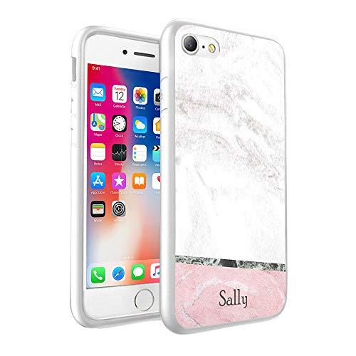 VVM Tech - Carcasa rígida personalizada con diseño de mármol y mármol, plástico, blanco, Samsung Galaxy S7 Edge