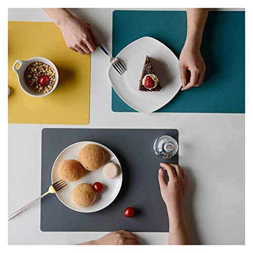 Oven Paquete de 4 Placas de Silicona, Impermeable Antideslizante de Grado alimenticio, Comedor, Resistente a la Mancha, tapón de Cocina, Resistente al Calor, tapete para Hornear