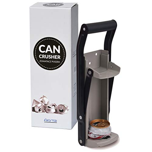 Froster Dosenpresse mit Flaschenöffner zur Wandmontage, Dosenbrecher für Getränkedosen 500 ml, Recycling Werkzeug