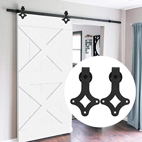 6.6FT Herraje para Puerta de Granero Carril de Acero carbono de puerta deslizante Divisores Puertas Interiores y Armarios de Pared