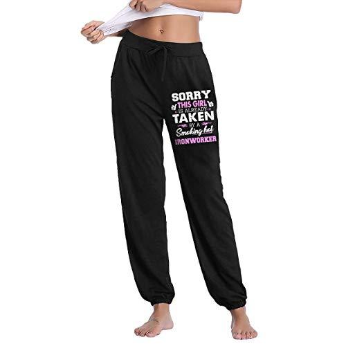 NICKCAT Ironworker Womens Drawstring Waist Yoga Legging Active Pant with Pocket Black Maryland