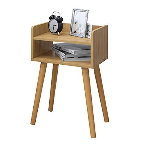 WGZ Bijzettafel, eenvoudige bijzettafel in de woonkamer, moderne salontafel met poten van massief hout