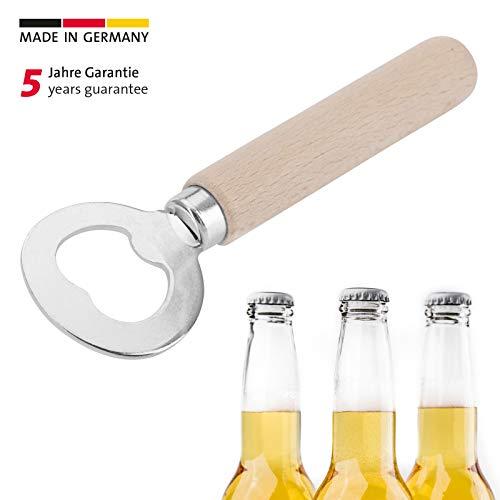 Westmark Flaschenöffner, Kronkorkenöffner, Länge: 14,1 cm, Stahl/Holz, Woody, Braun/Silber, 10082270