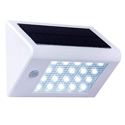 OSALADI Solar Lights Super Bright 20 LED Solar Wall Lights Outdoor IP65 Waterproof Solar Motion Sensor Security Lights for Garden Patio Home (White)