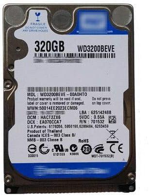 WD3200BEVE Hard Drive 320GB - WD3200BEVE 320GB 2.5