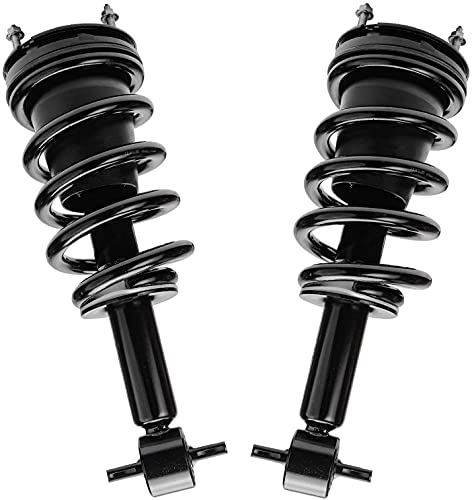 Detroit Axle - Front Strut & Coil Spring Assembly Replacement for Chevy GMC Silverado Sierra 1500-2pc Set