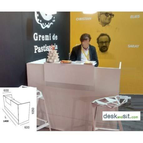 DESKandSIT - Bancone da Lavoro per esposizioni, MOD. MOP72002 140cm Bianco