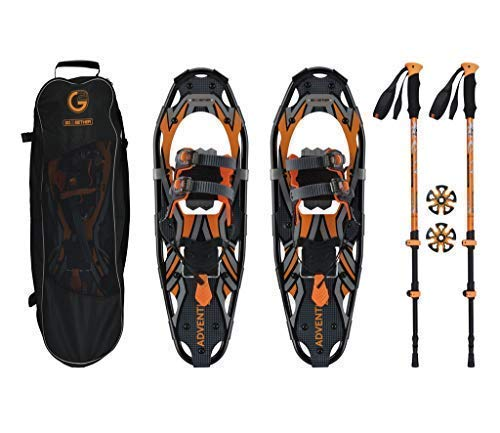 Snowshoes kit Adventure Adult (Orange, 21 in, Optimized Weight up to 150lb)
