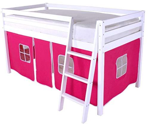 HLS - Tienda de campaña para litera de cabina, color rosa