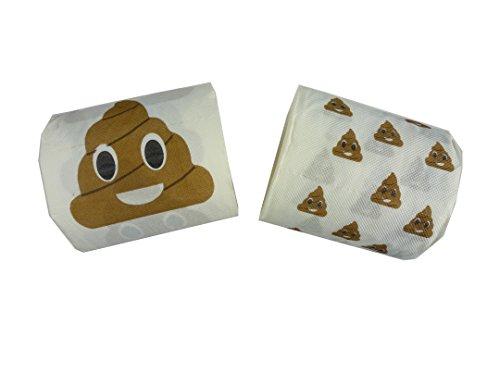 diverse 2 Stück Toilettenpapier Emoji Kackhaufen.2-lagig, 20m, BEIDE Motive!!! Scherzartikel, Spaß Geschenk, Wichtelgeschenk, gemeines Geschenk, Spaß, Scherz