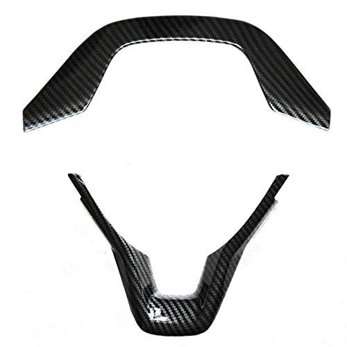 SHIYM-Prot, 2 Stück, schwarz, Carbonfaser-Stil, Lenkradabdeckung, Größe für Honda Accord 2018 2019