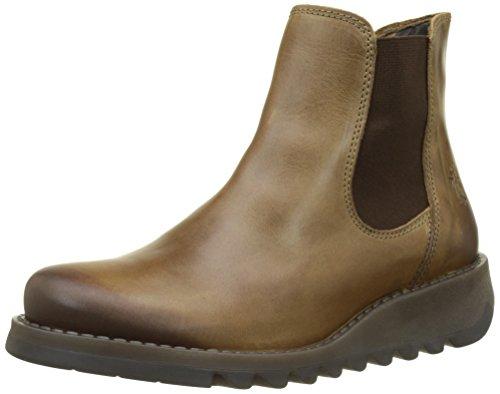 Fly London Damen Salv Chelsea Boots, Braun (Camel), 38 EU