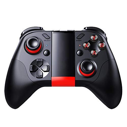 Kilcvt Gamepad Inalámbrico Bluetooth, Game Pad Gamepad Controller Disparador Móvil Joystick Bluetooth, para iPhone Android Phone Cell Pc Smart TV Box Control