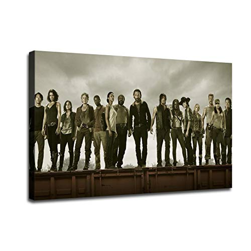 Artcgc The Walking Dead Wall Art Home Wall Decorations for Bedroom Living Room Oil Paintings FINDEMO Canvas Prints-1169 (16x24inch,Unframed)