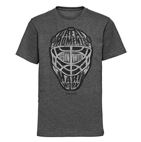 Scallywag® Eishockey Kinder T-Shirt Great Goalie Moments I Größen S - 3XL I A BRAYCE® Collaboration (offizielle Goalie Dennis Endras FOURCE44 Collection) (L (140))