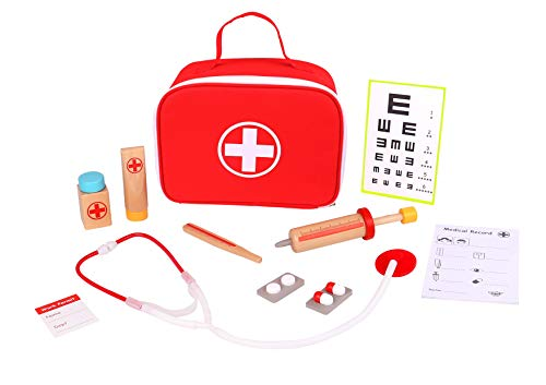 TOYSTER'S Doctor Kit for Kids | Toy Nurse Vet Playset for Toddler Boys and Girls | Wooden Interactive Medical Play Set | Suitable for Ages 3 and Up