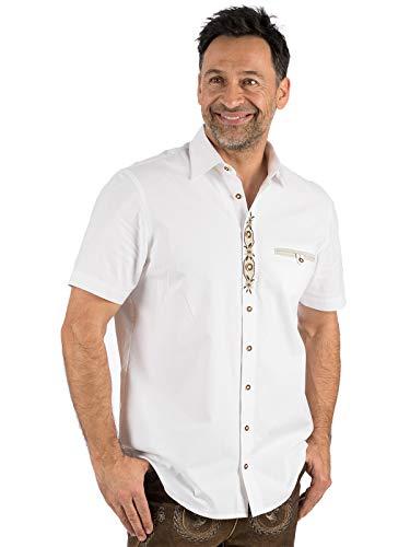 OS Trachten Trachten Kurzarmhemd FRANK weiß, S