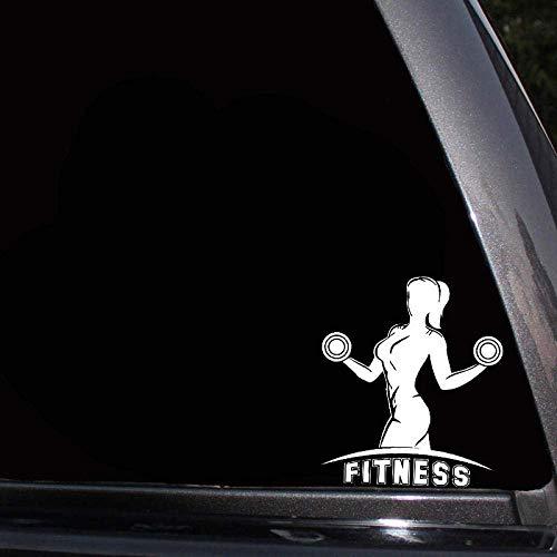 13.9 * 16Cm Stark Kraftvoll Super Power Fitness Girl Beliebter Modestil Vinyl Aufkleber Autoaufkleber 3St