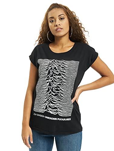 MERCHCODE Joy Divison UP tee Camiseta, Negro, Medium para Mujer