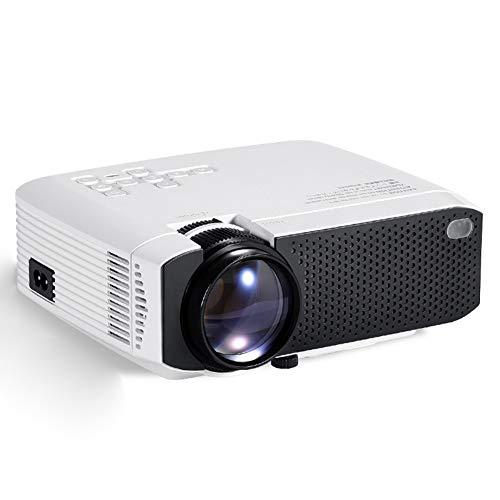 LIPETLI Proyector, Mini Proyector PortáTil Soporte HD, Cine en Casa con Control Remoto,2900 Lumens, Altavoces Duales Compatible,B