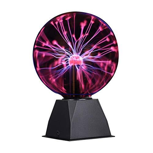 Bola de plasma mágica, flashes Plasma Ball de 6 pulgadas, sensible al tacto lámpara de bola mágica para decoración creativa y regalo novedoso, 220 V, luz roja