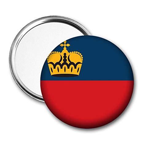 Liechtenstein Fahne Taschenspiegel für Handtasche Geldbörse Geschenk Geburtstag Weihnachten Nikolaus