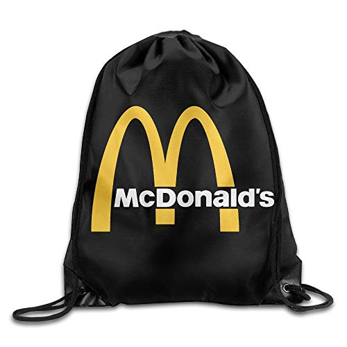 rtuuruyuy Mcdonalds 90s Logo Cordón Mochila Sack Bolso