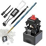 Zalig 7in1 DIY Tool kit for Mechanical Keyboards | Metal Switch Opener, Switch Puller, Keycap Puller, O Rings, 4 Prong Tweezers, Lube Brush, Keyboard Brush | Cherry MX, Gateron, Durock, Panda (3)