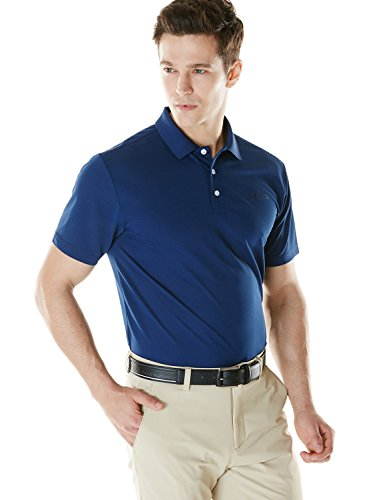 Tesla TM-MTK01-NVY_X-Large Men's Hyper Dri Polo Active Sports Performance Short Sleeve Shirt MTK01
