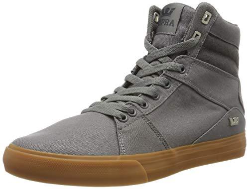 Supra Herren Aluminum Hohe Sneaker, Grau (Charcoal-Gum-M 26), 42 EU