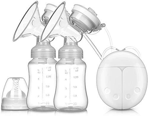 Sacaleches eléctrico Extractor de leche eléctrico doble Prolactina Masaje automatico,8 Niveles 2 Modos interfaz USB(Blanco)