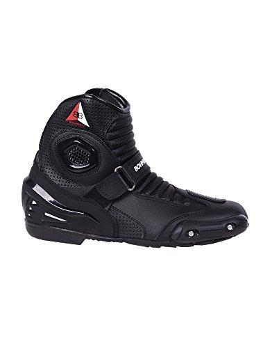 Bohmberg - Botas de moto, botas de piel deportivas, impermeables, de cuero...