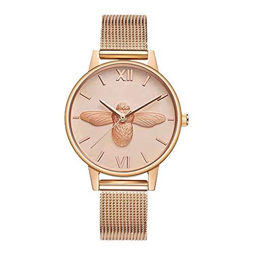 Reloj De Las Señoras, Reloj De Las Señoras De La Abeja 3D, Reloj Casual De Las Señoras De La Moda, Reloj De Señoras Impermeables,A