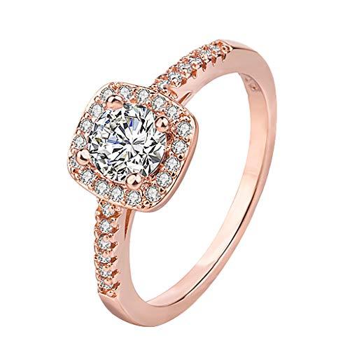 Time Cover Ring Damen Ringe Schmuck Silber Gold Rosegold Farbe Edelstahl Strass Geschenk für Frauen