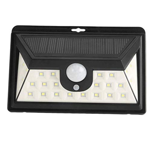 KX&VV Solar Lamp op zonne-energie, 24 leds super heldere waterdichte wandlamp, duurzame veiligheid 120 ° bewegingssensor, zonnecel, patio, tuin, omheining, decoratief verlichtend, afmetingen: 18 x 12,5 x 7 cm