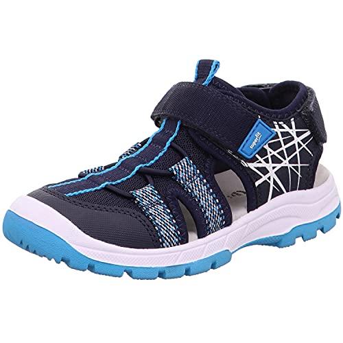 Superfit Jungen TORNADO Geschloßene Sandalen, Blau 80, 34 EU