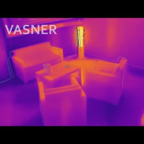 VASNER StandLine 25R Infrarot Stand-Heizstrahler – schwarz – 2500 Watt, 4 Stufen Dimmer, Fernbedienung, Terrassenstrahler elektrisch, Infrarotstrahler - 8