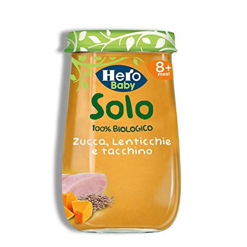 Hero Solo Omogeneizzato Verdure, Lenticchie e Tacchino Bio, Pacco 6 x 120 gr