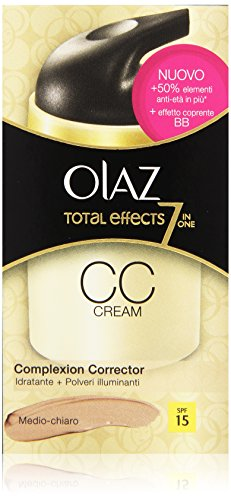 Olaz- cc cream idratante+polveri illuminanti medio-chiaro