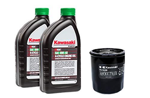 Kawasaki Oil Change Kit, (1) 49065-7010 Oil Filter & (2) 99969-6296 Quarts Of Oil