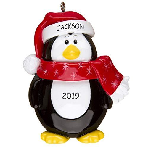Personalized Winter Fun Christmas Ornament (Penguin)