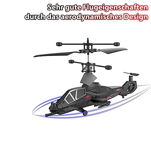 3.5 Kanal RC Ferngesteuerter Hubschrauber im schönem Comanche-Design, Helikopter-Modell mit der neuesten Gyroscope-Technologie für extrem stabiles Flugverhalten